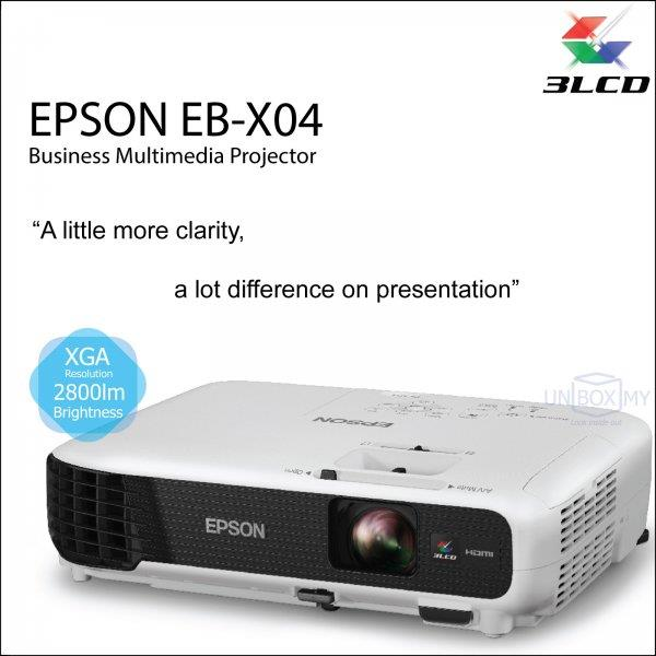 Epson Projector EB-X04 + FOC 1 Soft Carrying Case