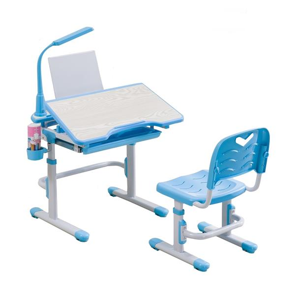 Ergonomic Kids Study Table Chair Set with LED Study Lamp Children Desk - Ergonomic Kids Study Table Chair Se (end 10/26/2017 4:15 PM)
