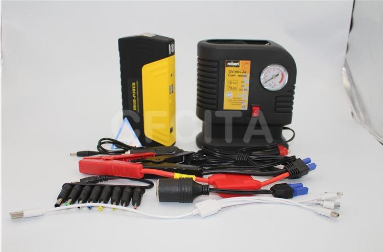 Ermengency Car Jump Jumper Starter Backup Battery Power Bank 50800mAh