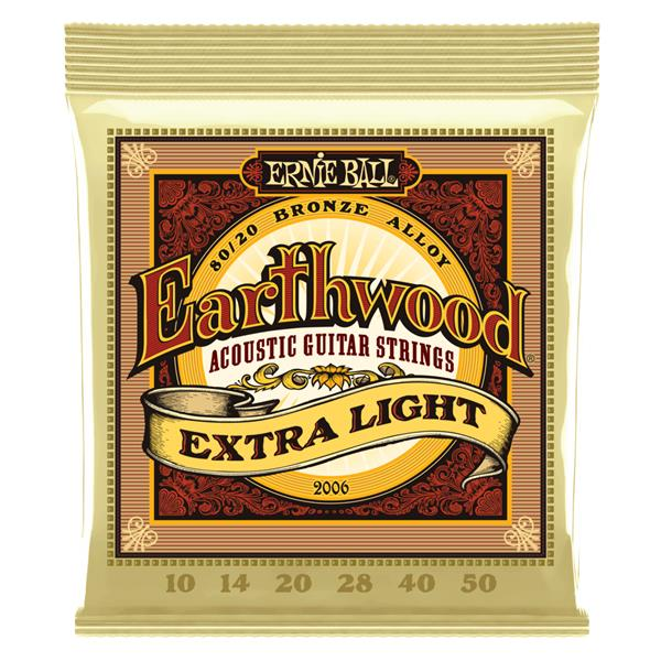 Ernie Ball 2006 Earthwood Extra Light 80/20 Acoustic Guitar Strings