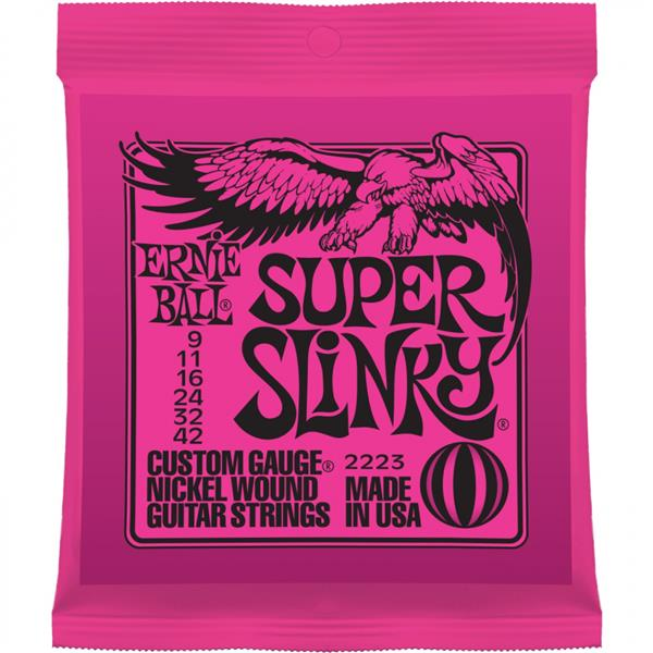 Ernie Ball 2223 Nickel Wound Electric Guitar String 09-42 Super Slinky