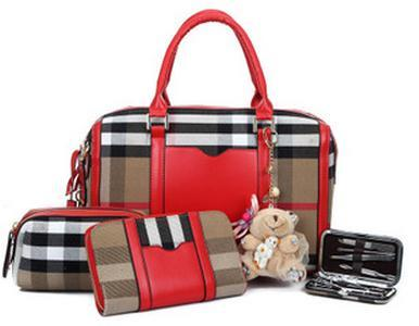 European Checkered Box Bear 4-in-1 Bag