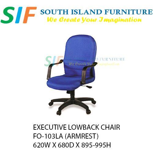 Executive Office Chair Lowback (come with armrest) FO-103LA