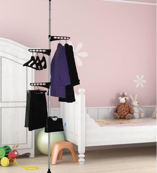 Image result for Expandable Clothes Laundry Indoor Room Hanging / Organizer Rack Pole