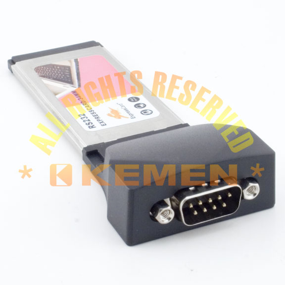 ExpressCard / Express Card 34mm Type II to RS-232 Serial Port