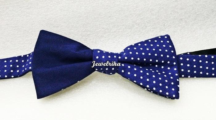 Exquisite Dark Blue Polka Dot Mix Bowtie (Free Shipping)
