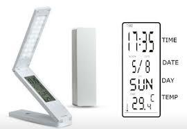 Eye Protection Mini LED Folding Table Lamp with clock function