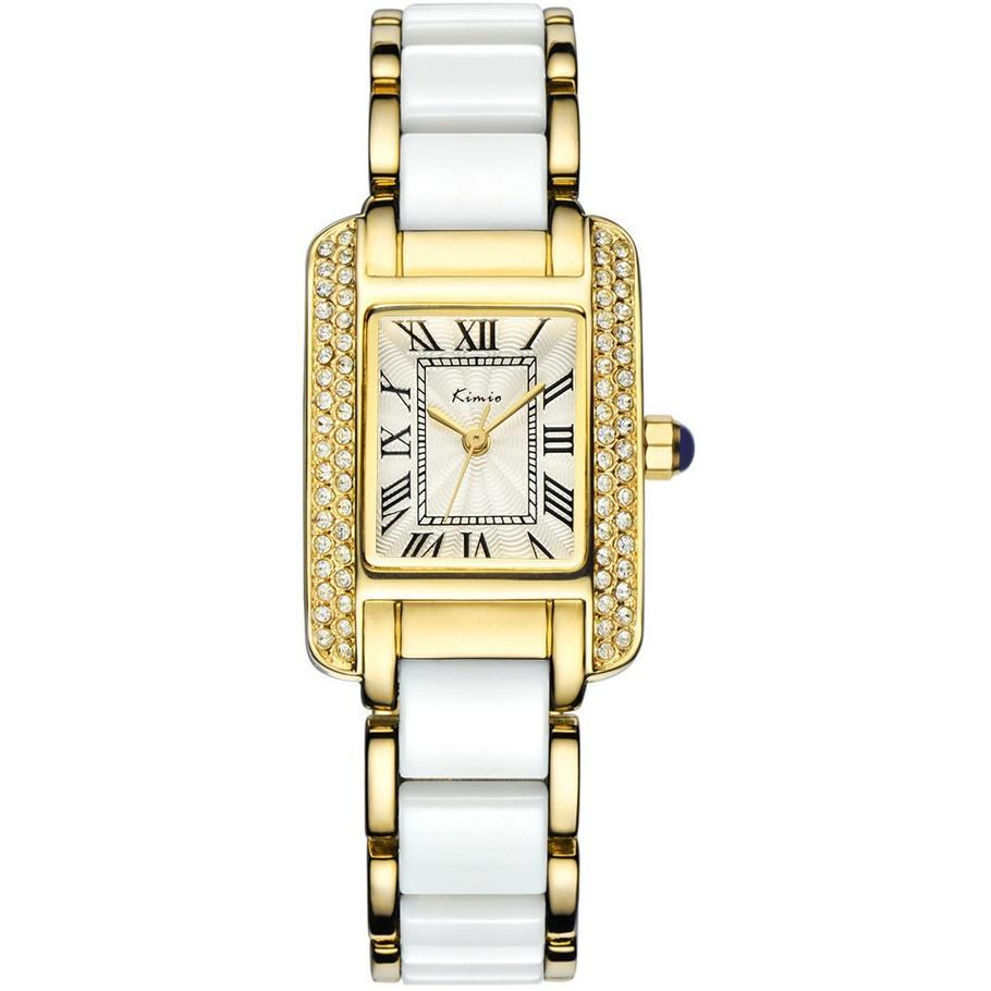 Eyki Kimio KW6036S Women's Classic Rectangle Roman Numeral S.S watch