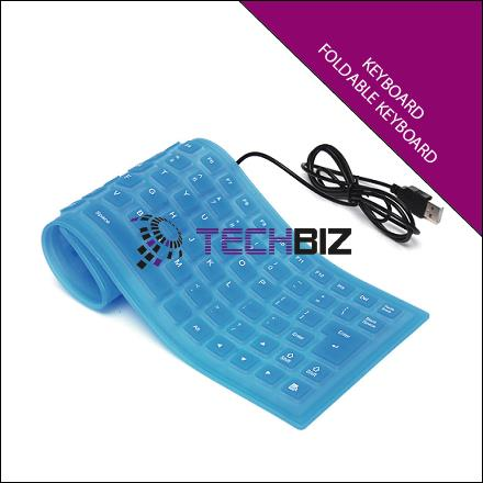 F-1059 USB FLEXIBLE FOLDABLE KEYBOARD FOR NOTEBOOK PC COMPUTER