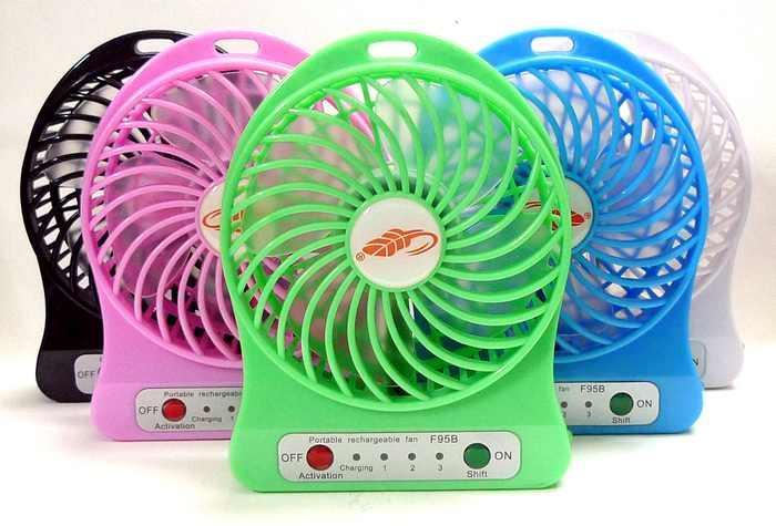 F95B Portable Fan Rechargeable Battery USB mini fan 18650