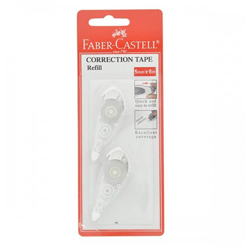 Faber-Castell 5mmx6m Correction Tape Refill X 2