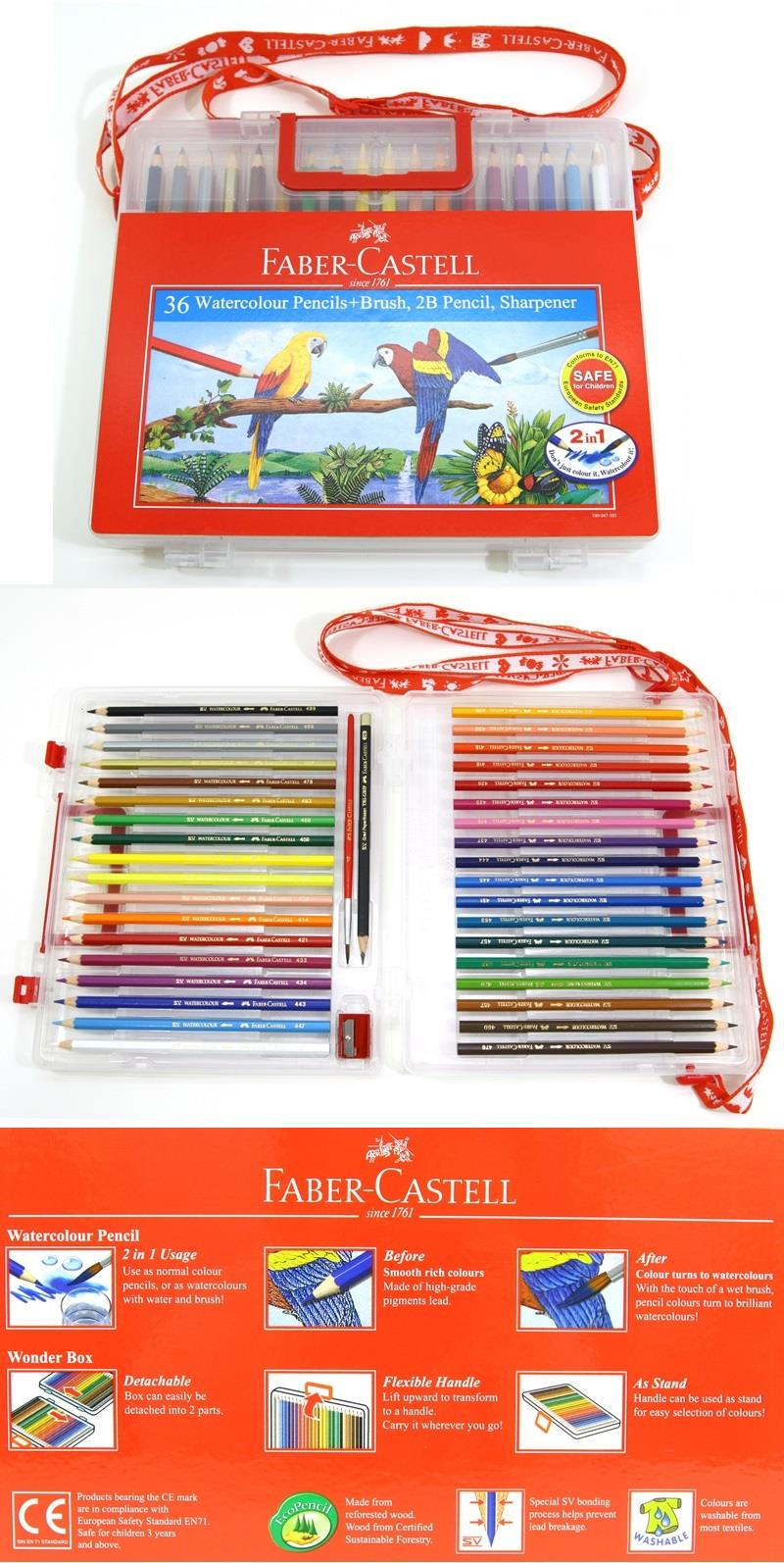 Faber-Castell Watercolour Pencils 36 L in Wonder Box