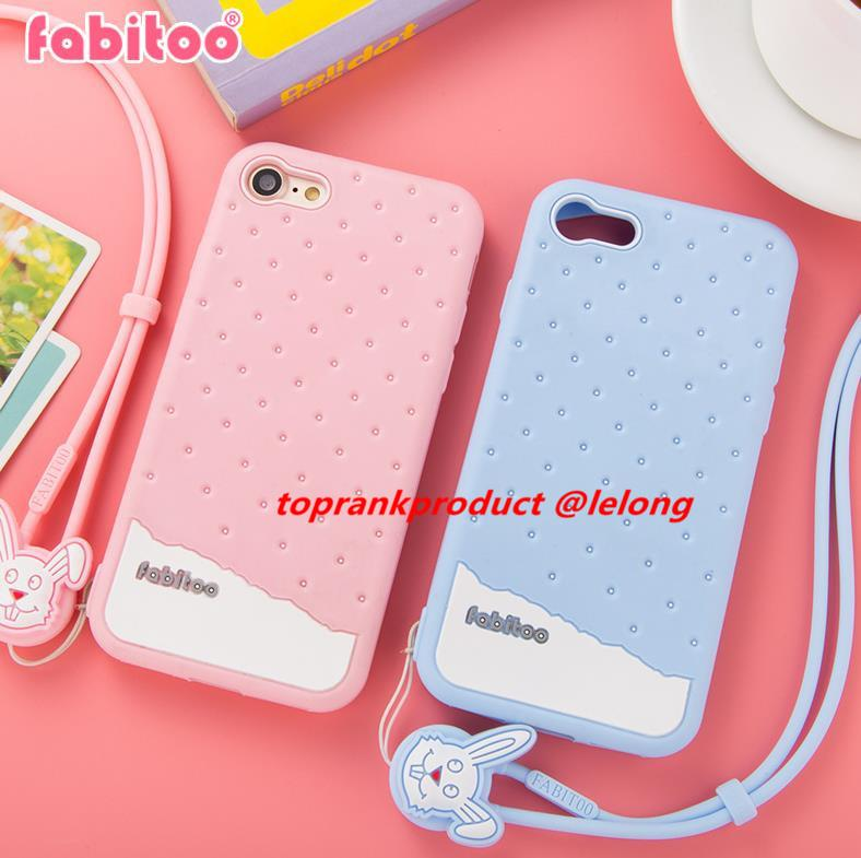 Fabitoo Apple iPhone 7 / Plus Silicone Armor Case Cover Casing +Gift