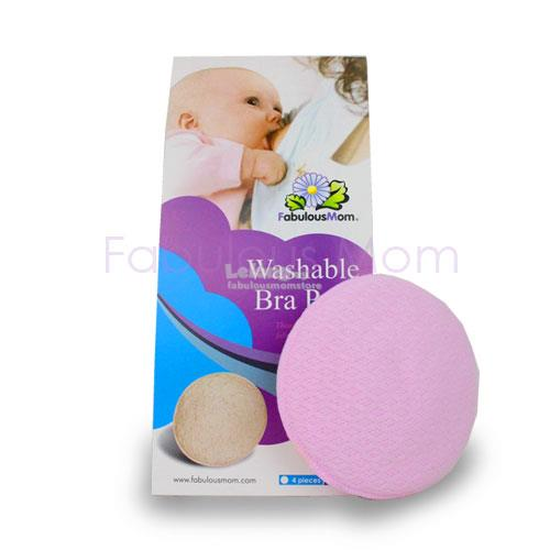Fabulous Mom Washable Bra Pads (4 pieces) Lilac