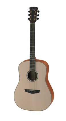 FAITH FSL NATURAL SATURN LEFTHANDED ACOUSTIC GUITAR WITH HARDCASE