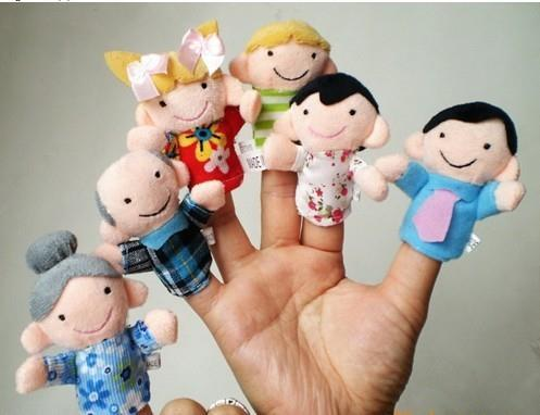 Family Finger Puppets (6 in 1), fingers puppet gift for mum baby kids