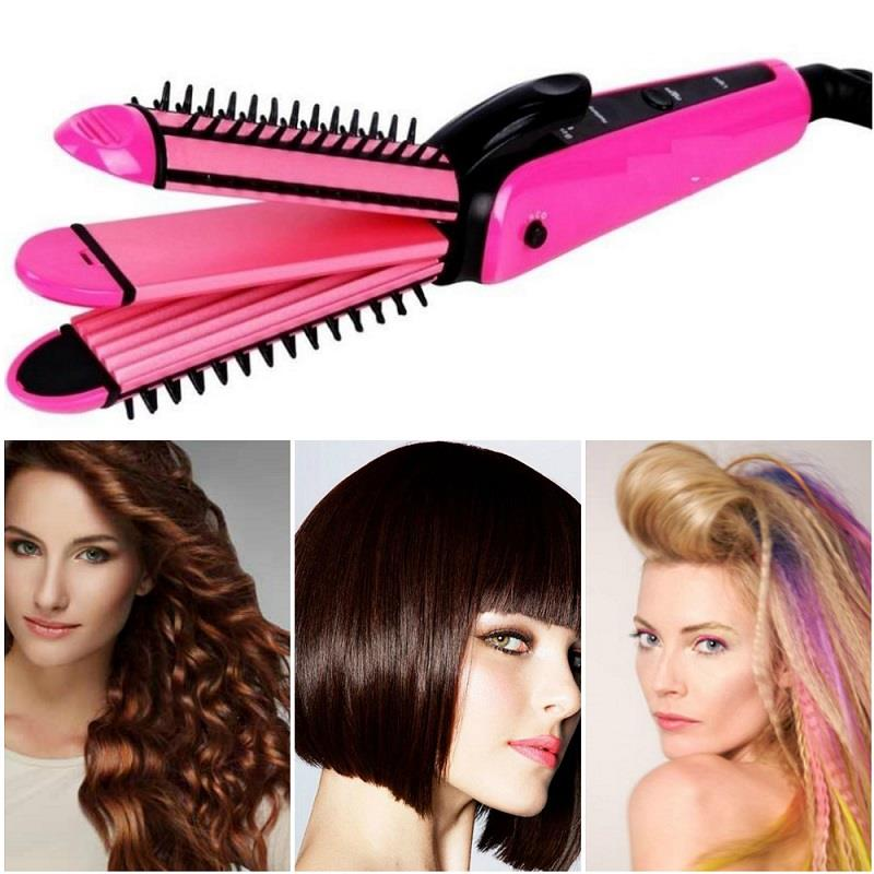 Fanyi 3 in 1 Multifunction Perfect Curler/Straightener Staylish Hair