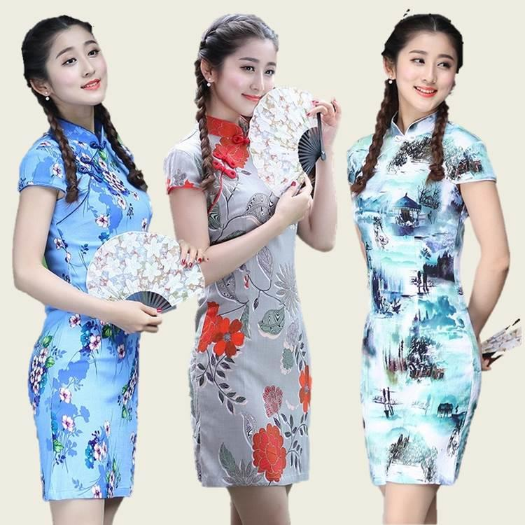 {Fashion Clickers} Retro Cheongsam 8 Designs (S to 2XL) 1585