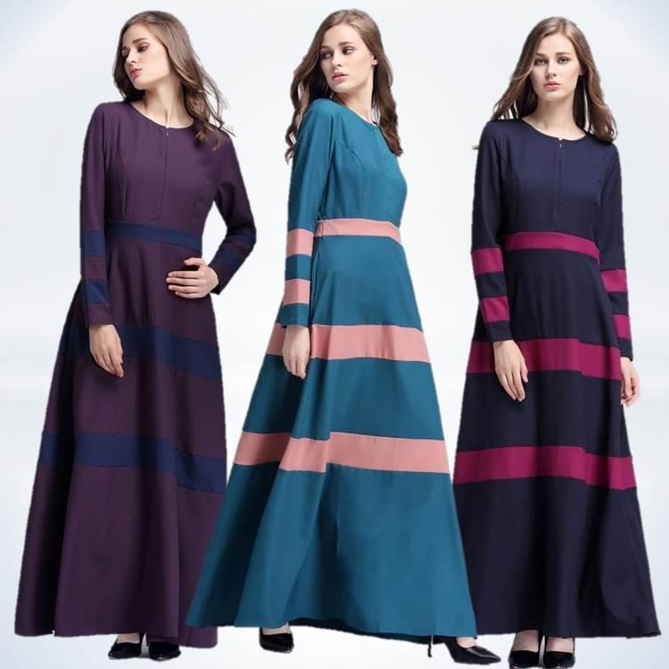 {Fashion Clickers} Striped Jubah Dress 0434