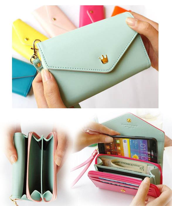 Fashion Crown Handphone Pouch/Purse