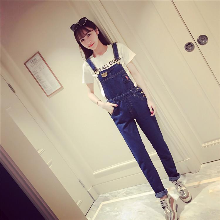 Fashion Denim Jumpsuit Blue-Size M