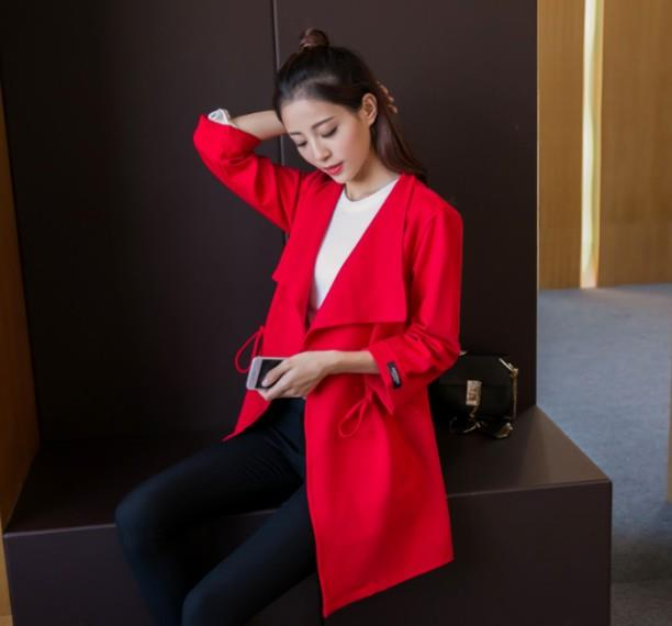 Fashion Korean Windbreaker  Autumn Coat Women Jacket