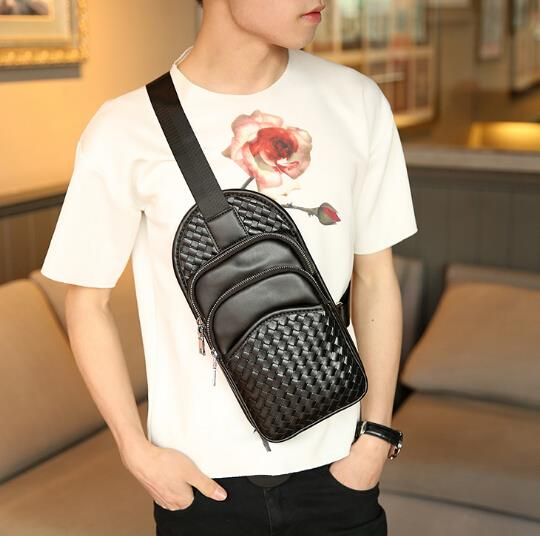 Fashion all-match woven chest bag
