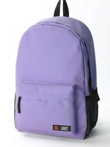 Fashion Nylon Backpack 15480 (Light Purple)