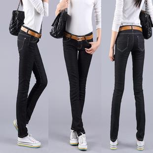 Fashion Show-slim Long Jeans (Black)