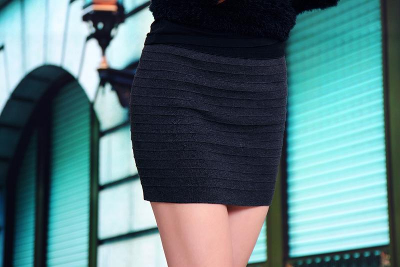 Fashion Stripe Show-slim Skirt