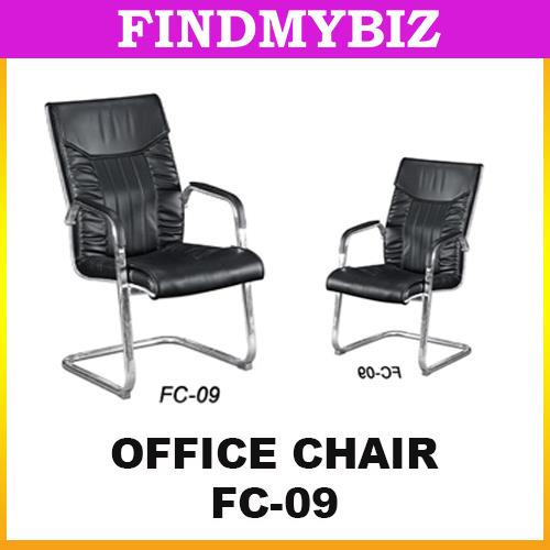 FC-09 Black PU Leather Office Boss CEO Executive Chair Table Aluminium