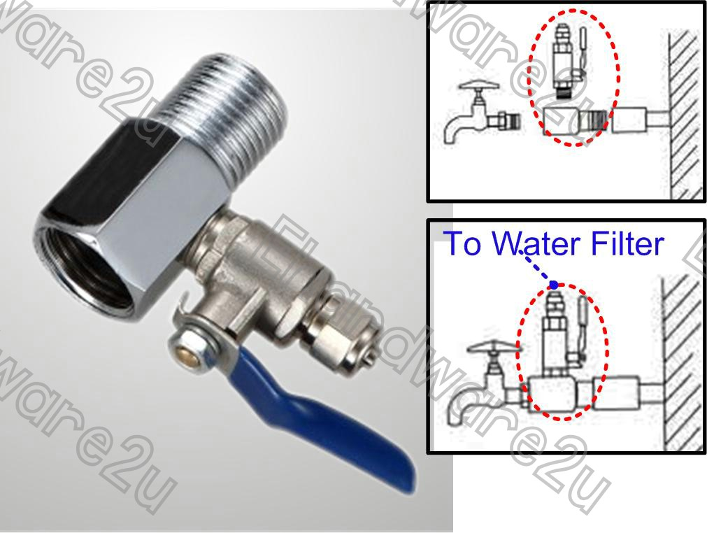 Feed-Water Adapter Connection Kit For Water Filter System (FWA0802)