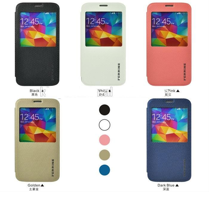 FERRISE Samsung Galaxy Alpha S View Leather Case Smart Cover