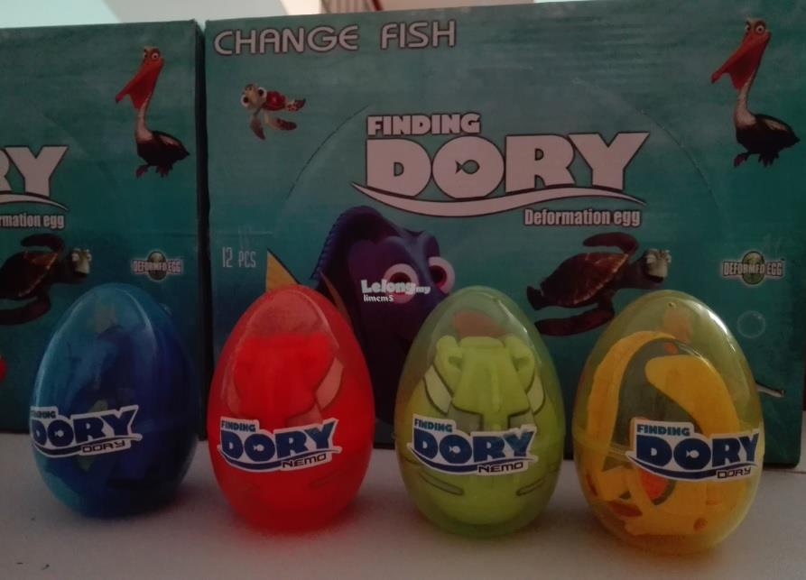 FINDING DORY DEFORMATION SURPRISE EGGS (4 In 1)