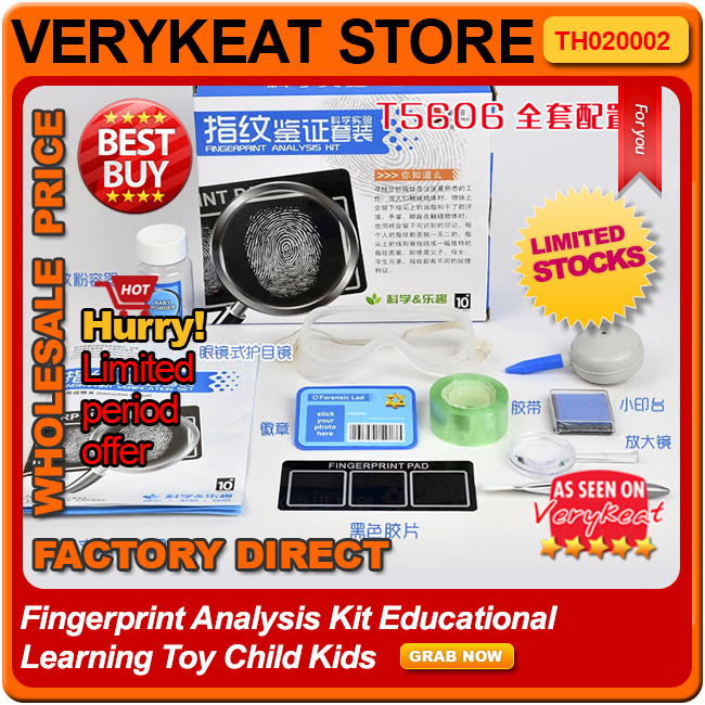 Fingerprint Analysis Kit Educational Learning Toy Child Kids