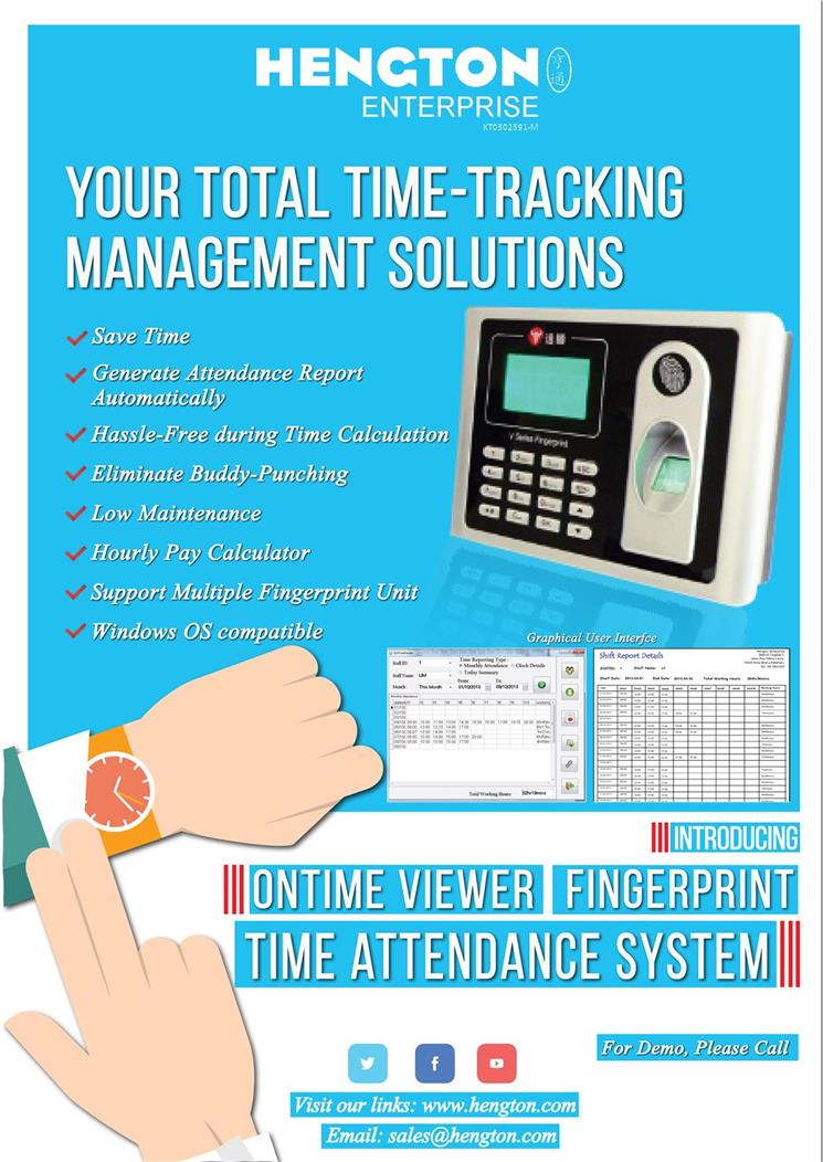 Fingerprint Punch Card Time Attendance System