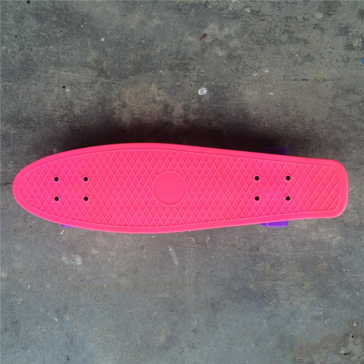 "Fish 27"" Penny Cruiser Skateboard (Pink/Purple)"