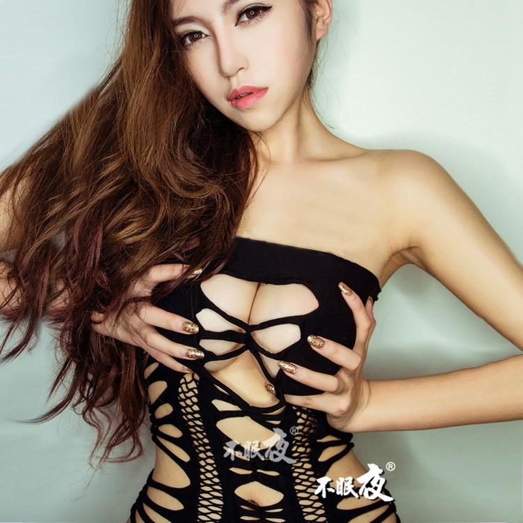 Fishnet Body Stocking Dress Open Crotch Sleepwear Sexy. Lingerie W054