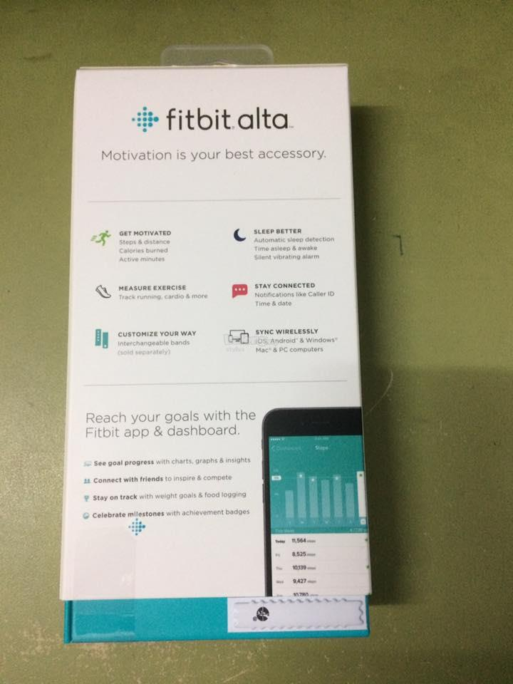 FITBIT ALTA LARGE WRISTBAND (FB406BKL) BLACK