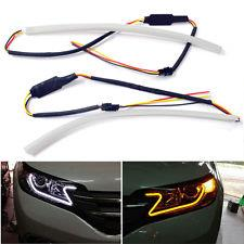 Flexible Bright Silicone Light Bar LED Daylight DRL Switchback Signal