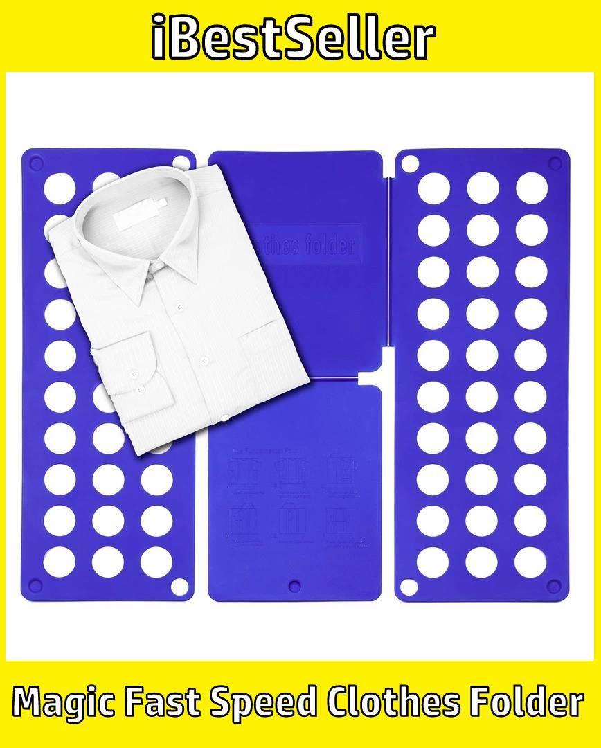 Flip n' Fold Laundry Butler Clothes Folder Magic Fast Speed Folder