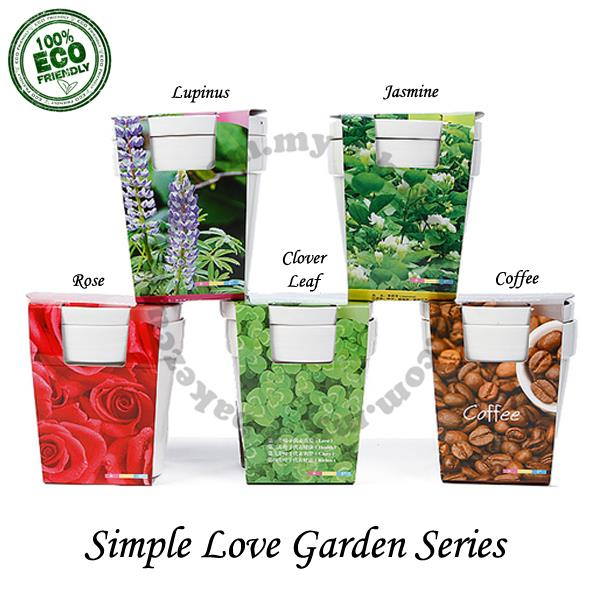Flower Gift DIY Kit - Simple Love - Garden Pot Plant Kit - Rose/Clover