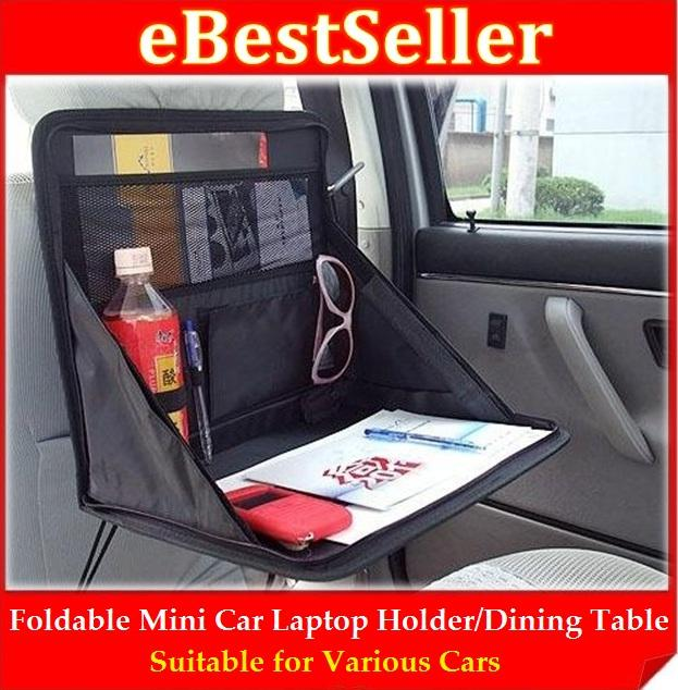Foldable Car Laptop Holder Dining Table Stand Store Keep Food Drink