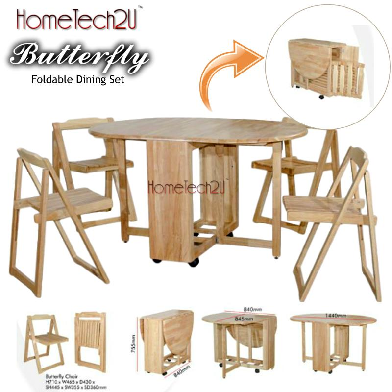 Foldable Dining Table And 4 Folding C end 632018 815 PM