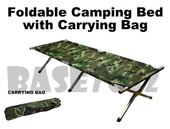 Foldable Folding  Oxford Military Camouflage Army Camping Camp Cot Bed
