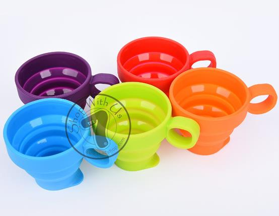 Foldable Silicone Cup with Handle