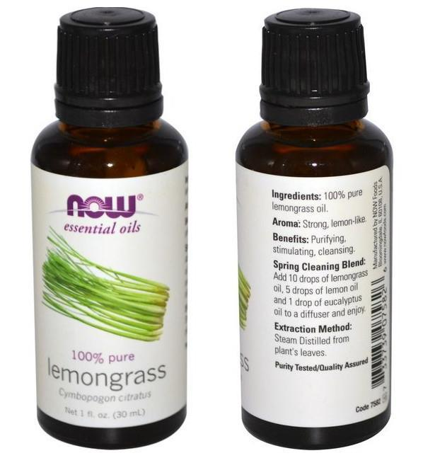 Now Foods, 100% Lemongrass Essential Oil (30 ml)