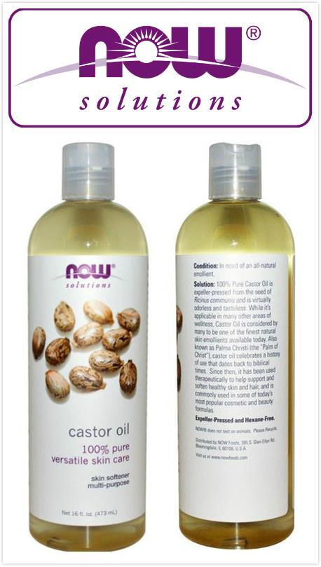 Now Foods, 100% Pure Castor Oil, Soften Skin (118ml, 473 ml)