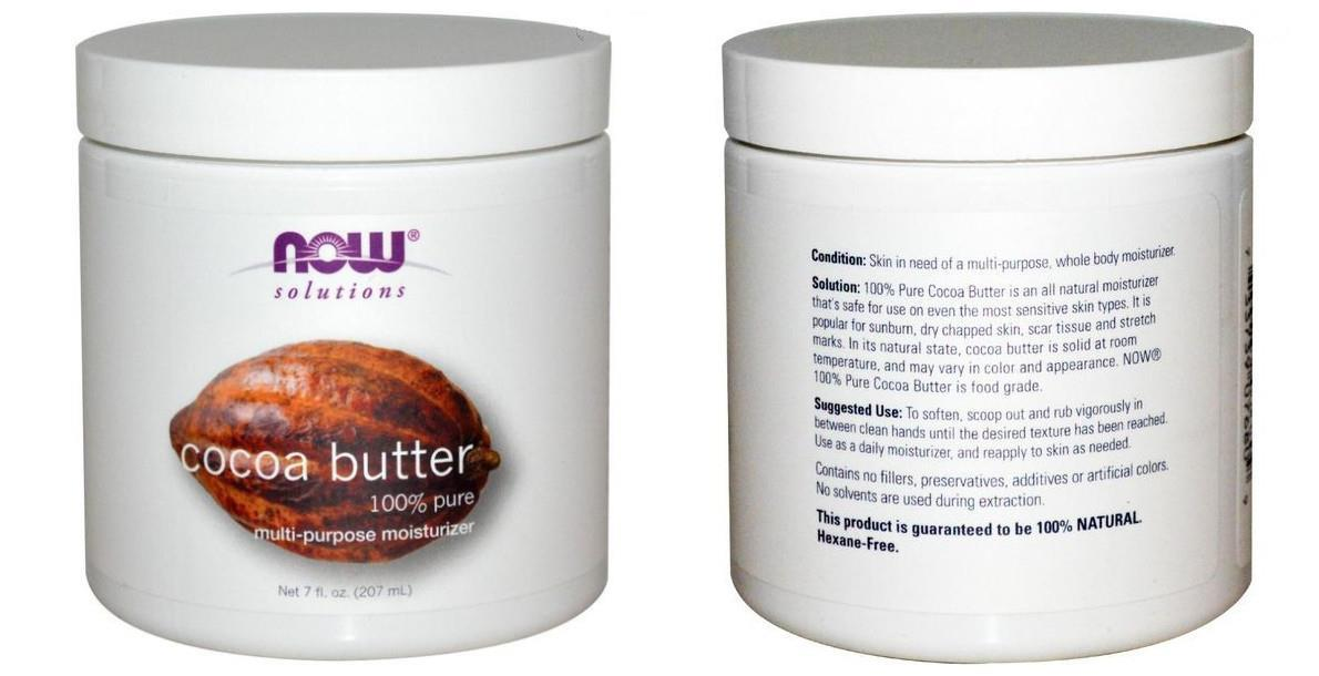 Now Foods, 100% Pure Cocoa Butter, Moisturizer (207ml)
