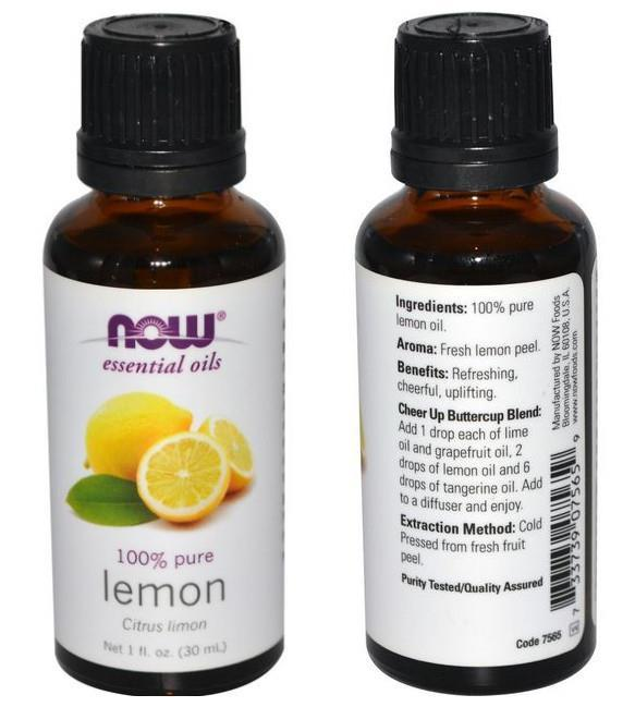 Now Foods, 100% Pure Lemon Essential Oil (30ml)